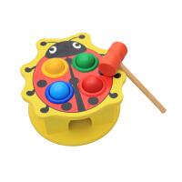 木制动物打桩打地鼠敲击台儿童宝宝启蒙益智玩具敲打1-2岁