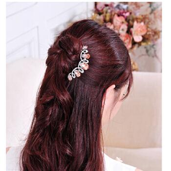 发梳 盘发插 梳水钻发卡 发饰 韩版新娘头饰 头饰夹子图片