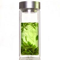 富光 700-500 双层透明带盖玻璃杯过滤茶杯500ml