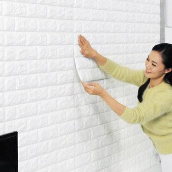 【尤萨附件】欧式防水3d砖纹卧室背景客厅砖块贴立体
