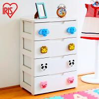 爱丽思IRIS 环保塑料儿童卡通扣抽屉式整理储物柜宝宝衣物收纳柜