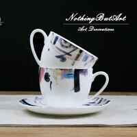 无则艺【NothingButArt】彩色水墨画艺术家绘画作品衍生品一级骨瓷咖啡杯