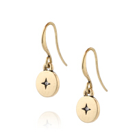 Arts & Crafts/A&C signature系列十字造型复古金色女士耳坠 支持礼品卡支付