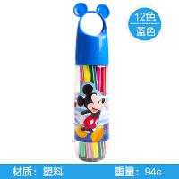 迪士尼(Disney)儿童水彩笔12色可水洗无毒D01386颜色随机 宝宝画笔幼儿涂鸦小学生创意笔 当当自营