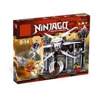 博乐积木益智拼装玩具9735乐高lego式拼装 幻影忍者拼装  加满都的黑暗堡垒城堡