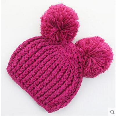 帽子 男女宝宝针织帽 套头帽 亲子手工帽子婴儿亲子针织帽母子母女