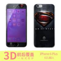 iphone6 plus 超人手机保护壳/彩绘保护壳/钢化膜/前钢化膜