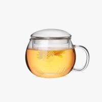 当当优品 圆趣杯 耐热玻璃泡茶花茶杯 树纹 300Ml