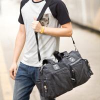 吉野新款韩版休闲复古男包包加厚帆布包包时尚潮流男士大包包手提包单肩斜挎包旅行包2012A2