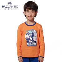 派克兰帝童装 男童卡通飞鸟印花长袖T恤