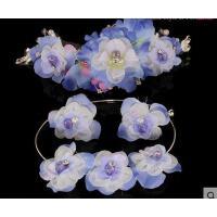 韩式三件套 结婚饰品项链 花仙子头饰 花朵发饰新娘头饰套装