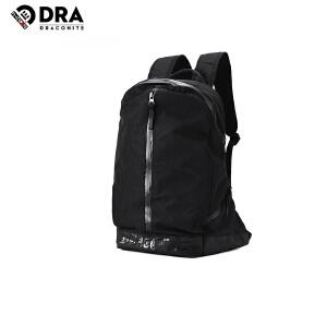 DRACONITE街头休闲风涤纶防泼水纯色运动双肩包男女书包背包