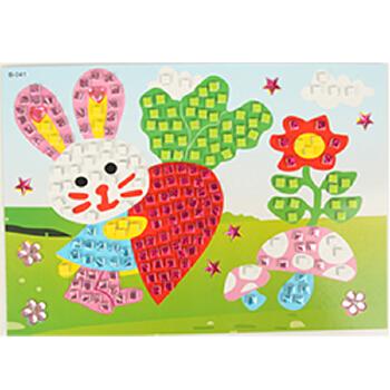 小白兔卡纸贴画图片-废品贴画图片大全