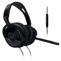 飞利浦SHM6500头戴式电脑耳麦笔记本耳机可分离式麦克风 游戏耳机 低音 隔音好