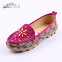 欣清2016夏老北京布鞋女鞋 正品中老年养生布鞋 舒适平底妈妈鞋单鞋