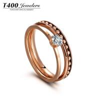 T400戒指女食指环日韩个性潮人简约百搭创意欧美夸张饰品叠带装饰戒指 4524