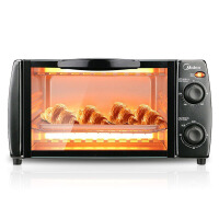 Midea/美的 T1-L101B多功能电烤箱家用烘焙小容量烧烤架小烤箱控温迷你蛋糕