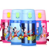 迪士尼保温杯500ml儿童保温杯带吸管米奇儿童吸管杯水杯带吸管男女GX-5706