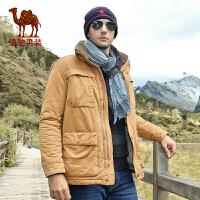 骆驼男装 新款 骆驼棉服 潮棉衣 男士保暖捍冬外套