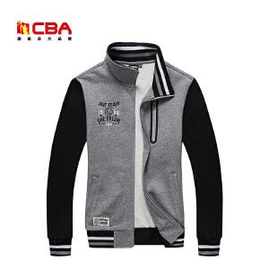 CBA女子运动卫衣时尚拼接运动服装吸汗立领舒适开衫运动外套