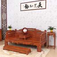包邮简迪红木家具罗汉床三件套明清仿古家具花梨木中式床榻实木狮子罗汉榻榻米沙发床