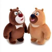毛绒玩具佩奇小泰迪熊生日礼物布娃娃熊大熊二