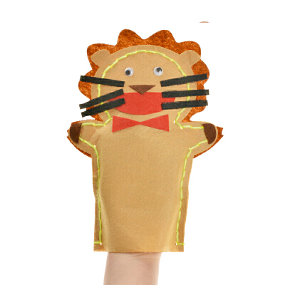 孩派 手工制作diy动物贴画创意针线缝制玩偶 布艺手偶 不织布手偶_09