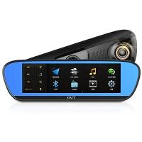 丁威特A18专车专用智能语音声控导航仪云电子狗行车记录仪一体机8.2寸IPS高清屏前后双录