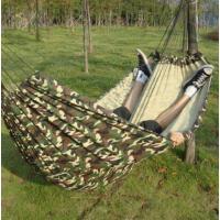 牢固耐磨耐用室内外双人迷彩休闲吊床秋千 舒适柔软便携加厚型送绑绳