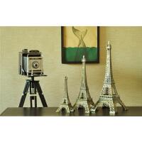 埃菲尔铁塔模型电脑桌创意小摆件家居电视柜房间卧室桌面软装饰品1
