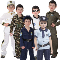 cosplay化妆舞会 儿童表演演出服装 各种军队服装
