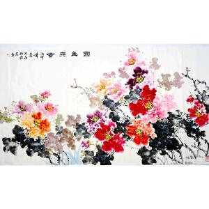 世界华人书画院副院长 一级美术师 魏大��《国色天香》