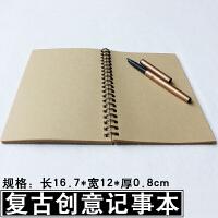复古牛皮纸线圈涂鸦空白本创意笔记本子记事本便签本日记本