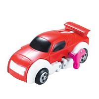 【当当自营】起航益智储能上链变形恐龙小汽车发条自动行走玩具JD-905A红色