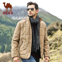 骆驼男装 棉衣 男士棉衣 男士直筒外套 棉服