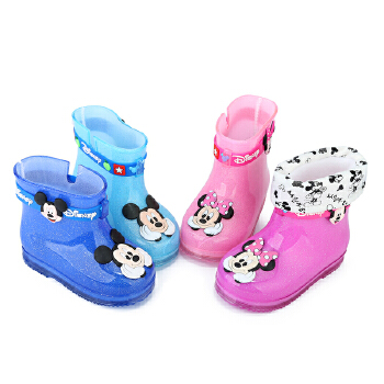 男女儿童雨鞋萌童学步鞋宝宝雨靴幼儿水靴小童胶鞋防滑水靴水鞋