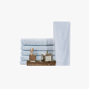 抗菌防臭毛巾套装-浅蓝(浴巾面巾各1条)