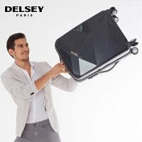 【促】DELSEY大使牌PC拉杆箱旅行箱行李箱男女ST双层拉链万向轮