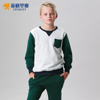 英格里奥男童卫衣套装男大童长袖卫衣卫裤887S