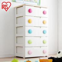 爱丽思IRIS环保塑料彩色扣抽屉式收纳柜储物整理柜宝宝衣柜555