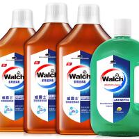 Walch/威露士 多用途消毒液劲爆4瓶10斤家庭装 除味杀菌 99.999%*