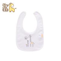 童泰2017新款婴儿围嘴新生儿卡通图案纯棉系带男女宝宝围兜口水兜