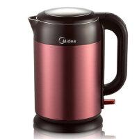 Midea/美的 MK-H215E4b双层保温电热水壶304不锈钢煮茶烧水壶开水壶