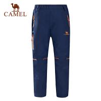 camel骆驼 秋冬男童女童登山裤防水保暖户外儿童冲锋裤