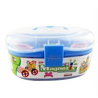 科博磁力棒儿童早教益智玩具 拼插建构玩具 智力开发玩具 磁力玩具 礼物 218件桶