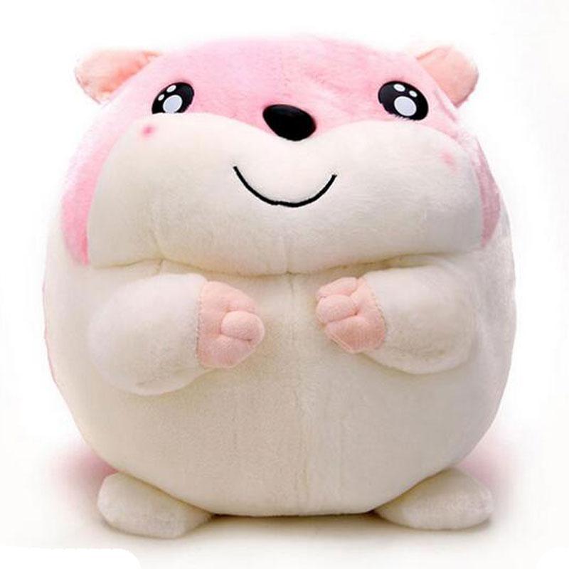 哈姆太郎仓鼠公仔 可爱毛绒玩具老鼠玩偶布娃娃小朋友礼物_粉色35cm