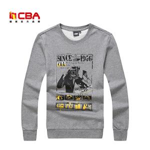 CBA男子卫衣 男士套头圆领卫衣吸汗透气长袖大码棉质运动卫衣