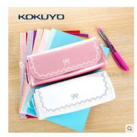 日本国誉KOKUYO箱式日本笔袋大容量方盒 化妆包 收纳包F-VBF123