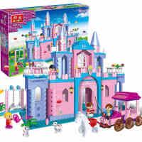 邦宝积木 女孩公主城堡餐厅系列益智拼装插儿童玩具111