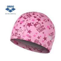 arena阿瑞娜 双材质舒适HELLO KITTY泳帽 男女通用游泳帽
